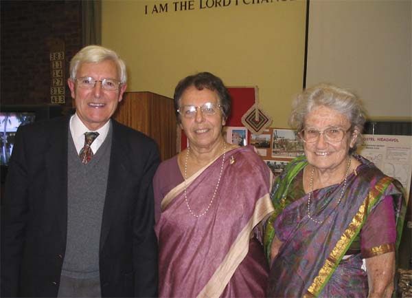 Picture of Joyce Harding with John and Eileen Cossins